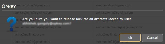 U4 release lock for this user